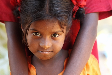 poverty india: Portrait of Indian Village Girl