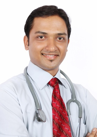 Portrait of Indian Young Doctor photo