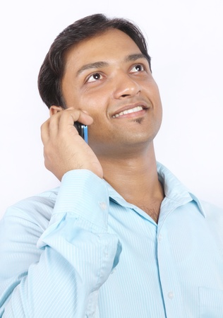 Indian Young man with Cell Phone photo