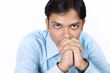 Worried Indian Businessman photo