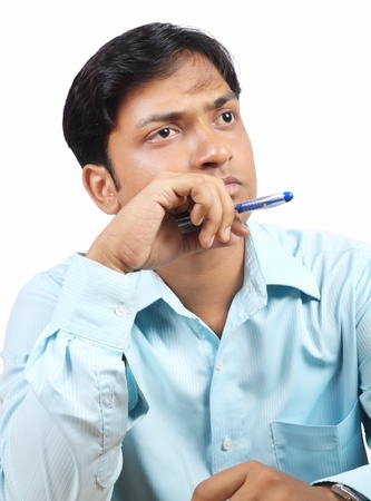 Thinking Indian Businessman