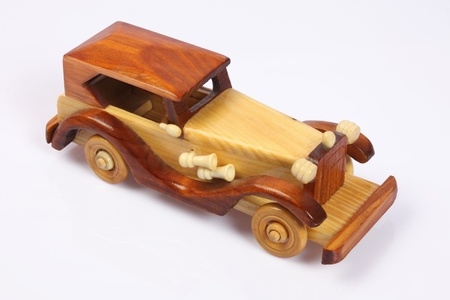Indian Handmade Wooden Car photo