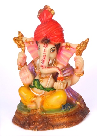 Colorful Hindu God Ganesha photo