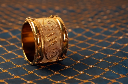 Indian Traditional Gold Bangles Stock Photo