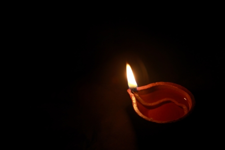 Traditional Indian Oil Lamp photo