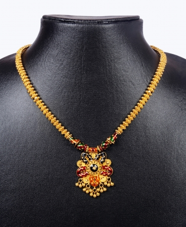 Indian Gold Necklace Stockfoto