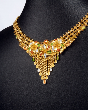 Indian Traditional Gold Necklace photo