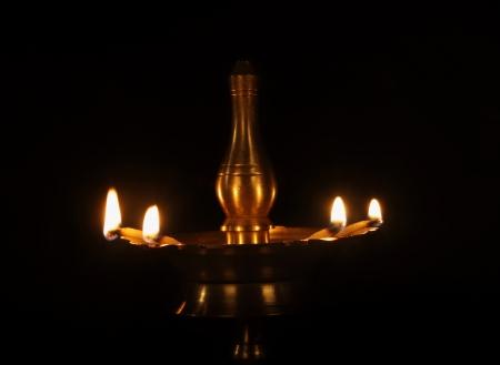 oillamp: Indian Oil Lamp Stock Photo