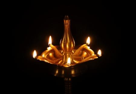 an oil lamp: Lámpara Indian Oil Foto de archivo
