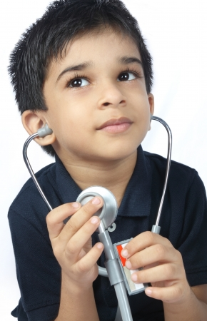 Indian Little Doctor with stethoscope