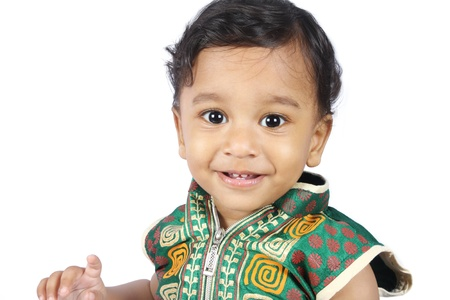 Portrait of Indian Cute Baby photo