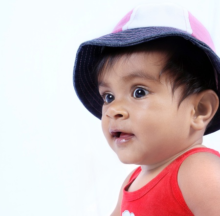 Surprised Indian Baby Girl photo
