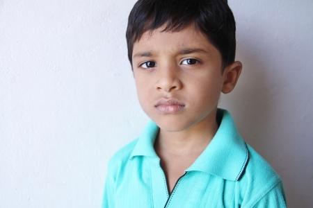 sad boy: Indian Little Boy Sad Stock Photo