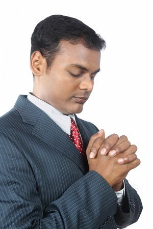 Indian Business Man Praying photo