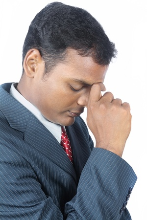 Depressed Indian Young Businessman photo