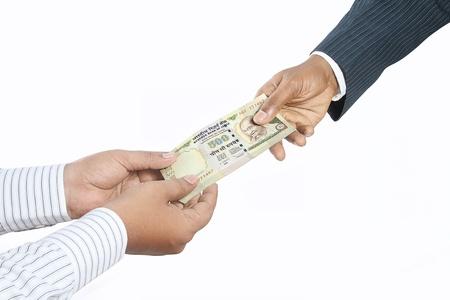 Business people holding money Stock Photo - 19552583