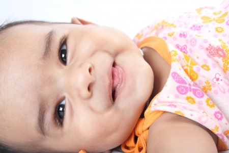 0 6 months: Smiling Indian Cute Baby