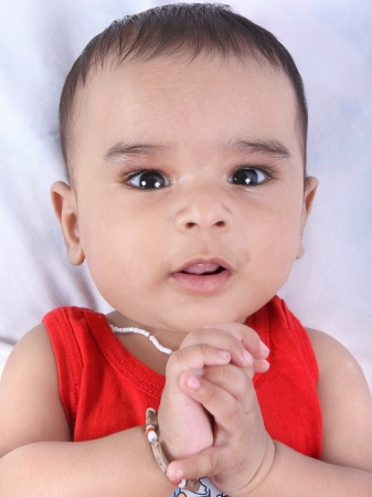 0 6 months: Indian Cute Baby Stock Photo