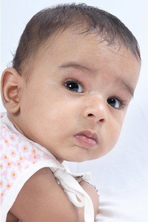 3 6 months: Portrait Of Indian Cute Baby