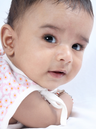Indian Cute Baby Posing to Camera photo