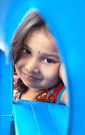 Portrait of Cute Indian Little Girl