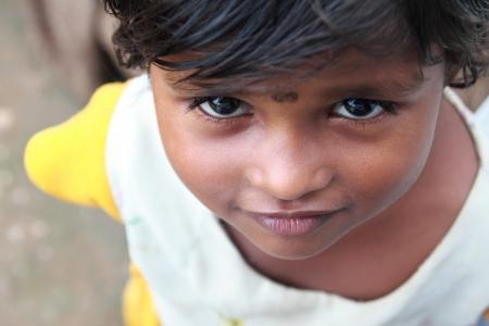indian village: Indian Village Poor Girl Stock Photo
