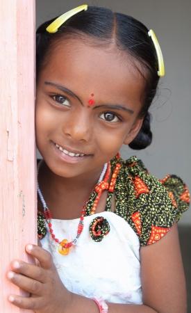 tamilnadu: Smiling Indian Village Little Girl