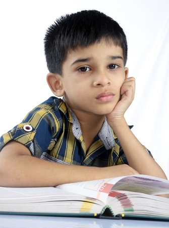 Indian School Boy Stock Photo