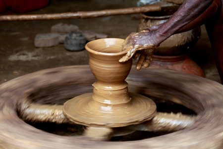 Potter s Hands Creating New Pot photo