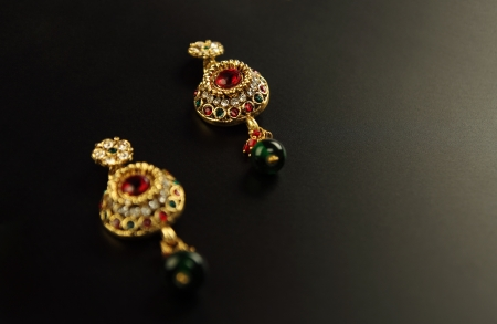 Traditional Indian Earrings photo
