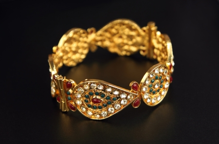 Indian Traditional Gold Bangle photo
