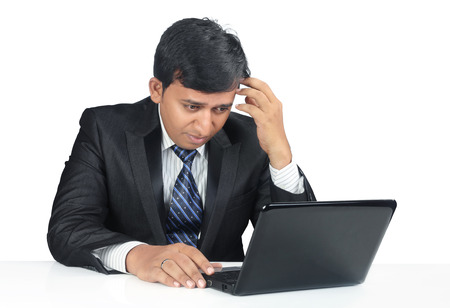 indian business man: Depressed Indian Young Businessman