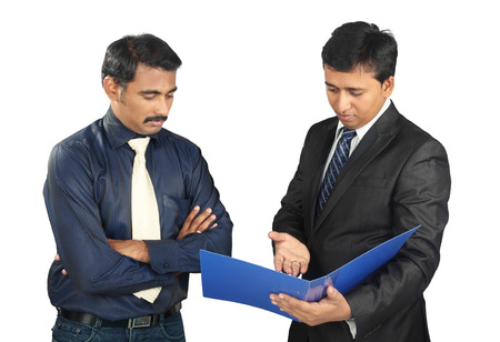 Indian Business people  with files Banque d'images
