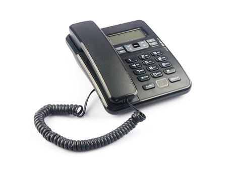 caller: Phone isolated on the white Stock Photo