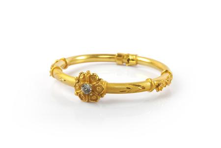 bangle: Indian Traditional Gold Bangle Stock Photo