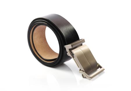 chrome man: Leather Belt Stock Photo
