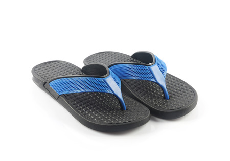 flip flop: Flip flop Isolated on White Stock Photo