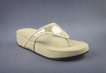 sandalia: Se�oras de la sandalia Foto de archivo
