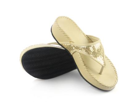 sandal: Se�oras de la sandalia Foto de archivo