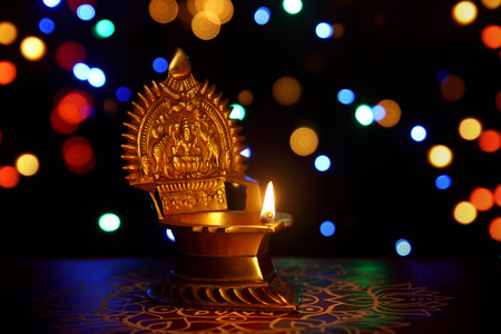 oil lamp: kamatshi amman oil lamp Stock Photo