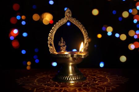 mariamman: kamatshi amman oil lamp Stock Photo