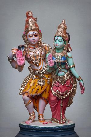 hindu god shiva: Shiva and Parvathi Statue Stock Photo