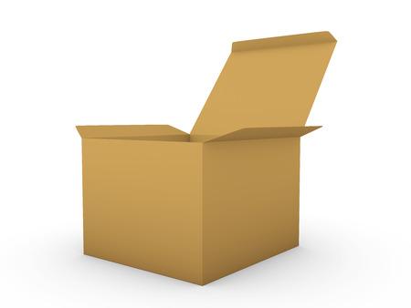 cardboard: Cardboard box Stock Photo