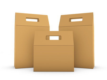 cardboard: Cardboard boxes