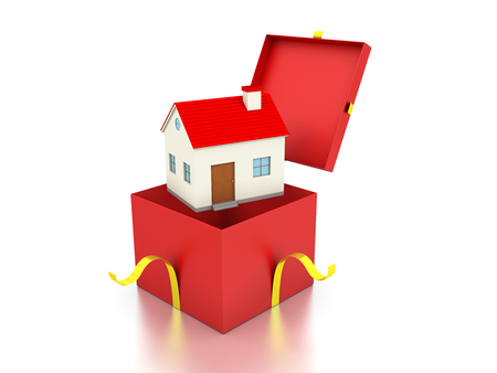model home: Gift Box with Home Model