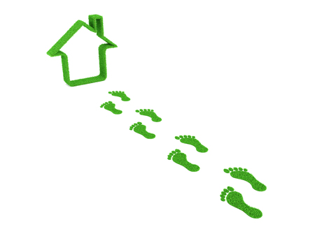 right path: Home with Footprint