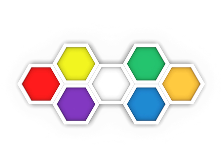octagon template layout for business stock photo picture and