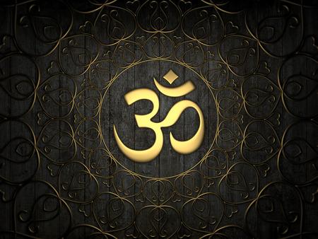 tantra: Hindu Om Icon Stock Photo