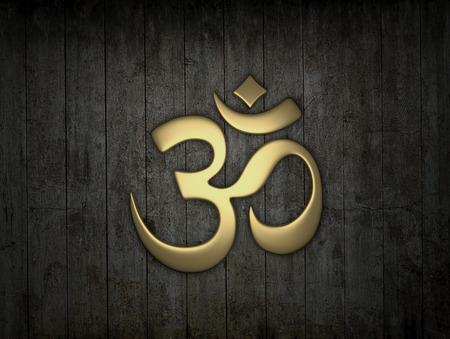 tantra: Hindu Om Icon Stock Photo