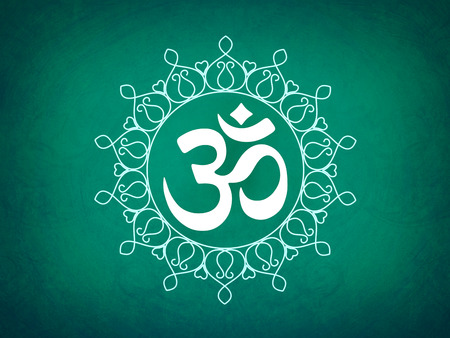 3d om: Hindu Om Icon Stock Photo